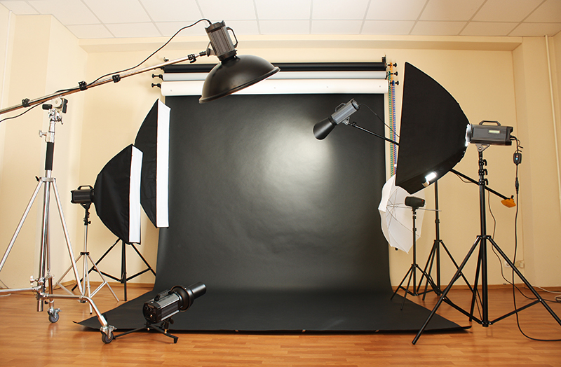 Black background for product photography