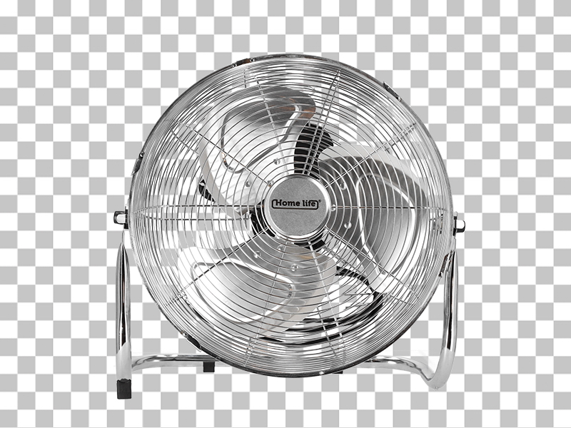 A difficult product - a fan - on transparent background