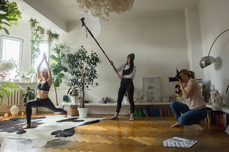 Modelling session at home