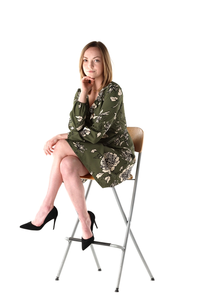 A model white background